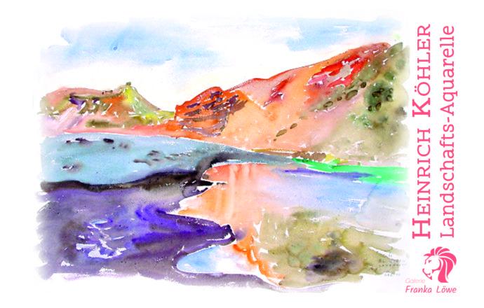 Landschafts-Aquarelle von Heinrich Köhler
