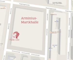 Standort der Galerie in der Arminiusmarkthalle