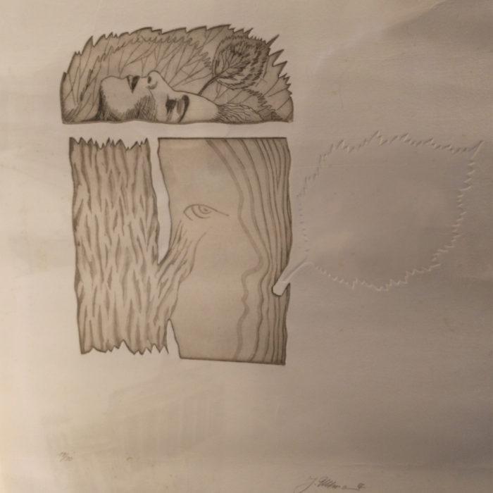 Lithografie Prägedruck von Jürgen Ullmann