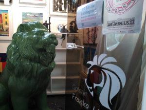Franz, der Tafellöwe in der Arminiusmarkthalle (Berlin-Moabit)